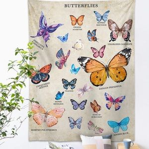 Wall Art - Butterfly Tapestry Wall Hanging
